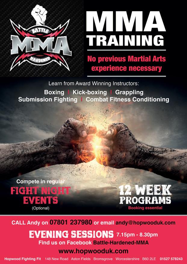 WKF UK » Blog Archive » Andy HOPWOOD offers new MMA training